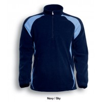 UNISEX ADULTS 1/2 ZIP SPORTS PULL OVER FLEECE