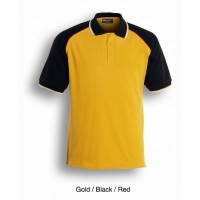 UNISEX ADULTS THREE TONE POLO