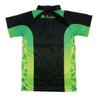 MENS DRAW SHORT SLEEVE BLACK/LIME