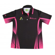 LADIES BLACK/PINK SHORT SLEEVE - HENSELITE WITH BA LOGO