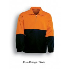 HI VIS HALF-ZIP SAFETY FLEECE