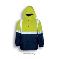 HI-VIS POLAR FLEECE LINED JACKET WITH TAPE