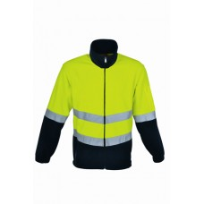 FULL ZIP HI VIS POLAR FLEECE WITH TAPE