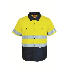 HI-VIS COTTON DRILL SHIRT WITH TAPE